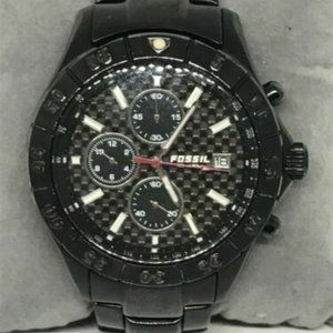 Fossil Mens Stainless Steel Black Dial Watch Bb825